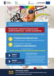 Plakat - Administrator systemów komputerowych i grafik komputerowy zawody z przyszłością